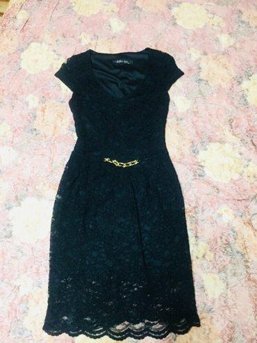 черное платье турция в Кыргызстан: Чёрное платье из гипюра. Размер 38, производство Турция, состояние