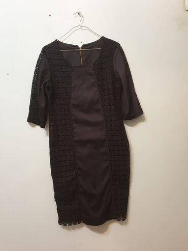 Продаю женское платье Турция, размер 42 (L 48-50), цвет черный, в