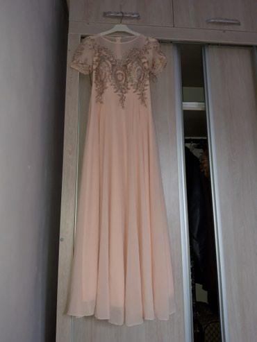 На прокат турецкое нежно розовое платье тел. в Бишкек