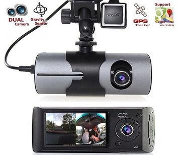 gövdə - Azərbaycan: Videoregistrator Vehicle DVR R300 2 KameralıR300 Dual Camera GPS Car