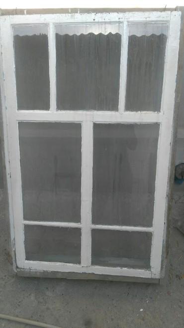 Окна деревянные - Кыргызстан: Окна деревянные, с коробками, б/у. в хорошем состоянии