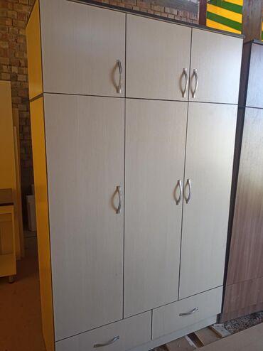 Дом и сад - Кок-Ой: Трёх дверный новый шкаф 6890 Материал в России Адрес: Алатоо3