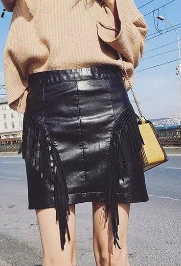 Kozna-suknja-m - Srbija: Kozna suknja novo sa etiketom l vel