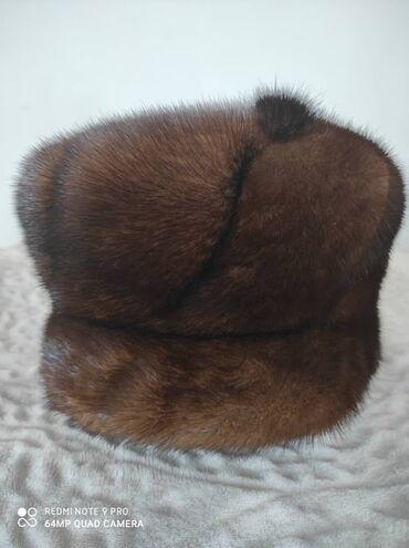 варежки и шапка в Кыргызстан: Продаю норковую шапку (тумак), в отличном состоянии. Цельная норка, не