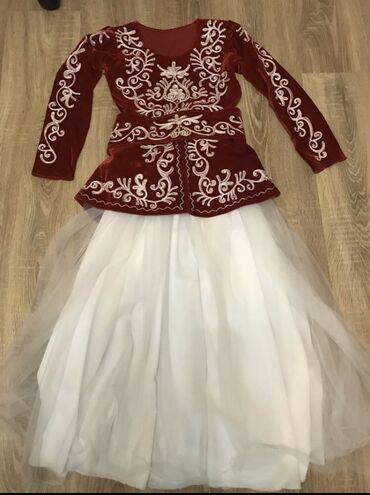 Национальное платье с шапкой - 1000 сом  На возраст: 8-11 лет  Прокат