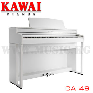 Цифровое фортепиано Kawai CA49 PSWДеревянная клавиатура с механикой