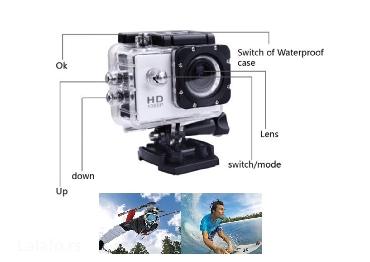 Sports Full HD 1080P DV 2.0 Inča LCD Odlična akciono-sportska full - Nis - slika 2