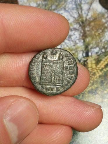 Monete | Srbija: Rimska bronza CONSTANTINUS logorska kapija na reversu solidan 550din