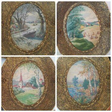 Kućni dekor - Mladenovac: Original Vilerovi gobleni. Četiri godišnja doba.Stari preko 45