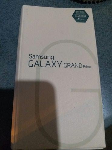 Bakı şəhərində Samsung Galaxy GRAND Prime Qutusu. 2015 buraxliw ili.