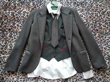 Пиджак школьный - Кыргызстан: Школьный костюм(пиджак, рубашка, брюки, галстук, жилет)Цвет