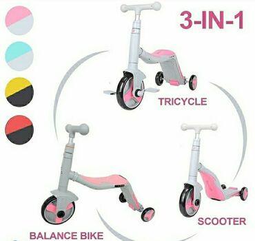Детский самокат- велобег- велосипед BEST 3в 1 подходит для детей от 3