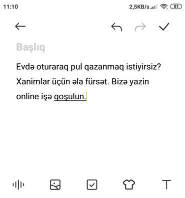 Evdə oturaraq pul qazan