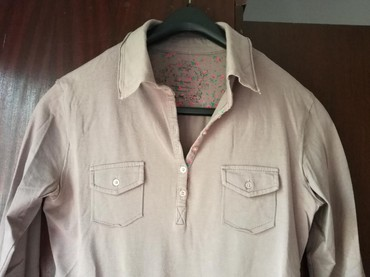 Pamucna bluza lepa boja peska,vel:M - Beograd
