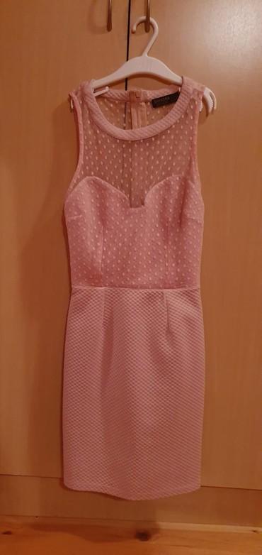 Bershka svetlo  roza haljina. Potpuno nova. Samo skinuta etiketa.  - Sombor