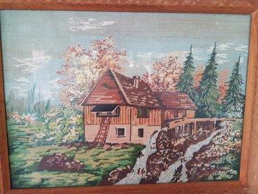 Gobleni - Beograd: Vilerov goblen, uramljen, drvo, jako lep rad, sitan vez. Jako star