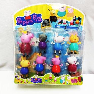 Комплект Свинки Пепа - большие игрушки героев 8 штук в