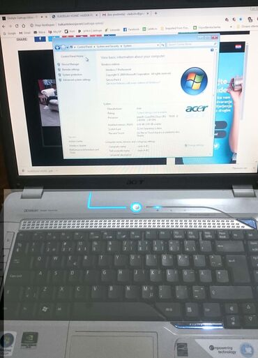 Acer Aspire 5920 model ZD1, odličan laptop, core duo, procesor T8300