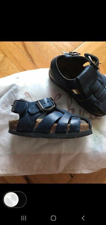 Grubin - Srbija: Grubin sandale za decake broj 24 teget, duzina gazista 14cm, nove