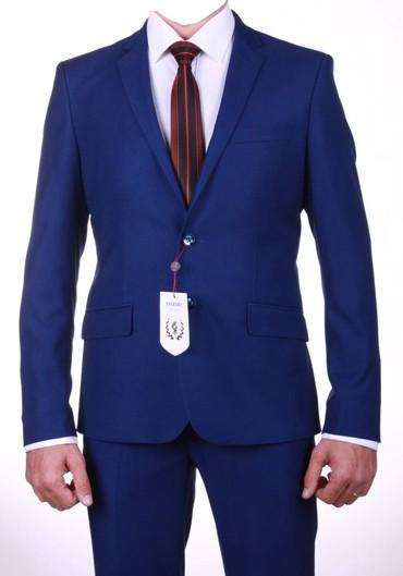Мужская одежда - Чолпон-Ата: Продаю мужской костюм синего цвета в г.Бишкек