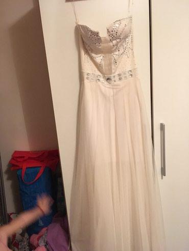 Bela haljina..nosena jednom..univerzalna velicina - Kragujevac