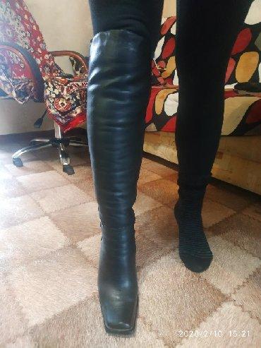 сапоги-кож-зим в Кыргызстан: Зимние сапоги,в идеальном состоянии,кожа. Размер 37-38 на худую ножку