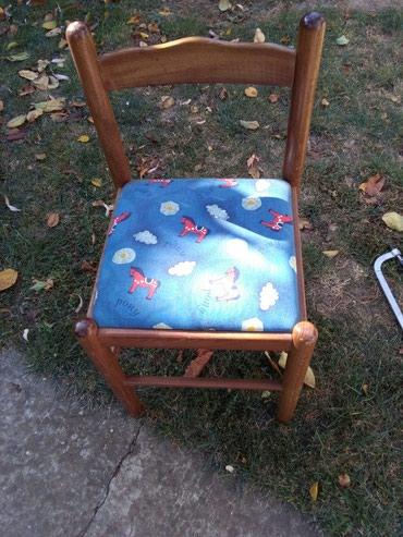 Stolica malecka za predskolsku decu,drvo - Sombor