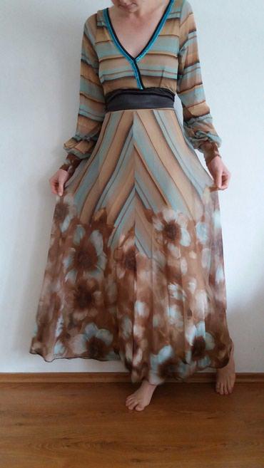 Haljina-modne-kuce-balasevic-samo-placena - Srbija: Svecana haljina, nosena samo jednom, velicina: M