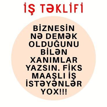 axtarışı - Azərbaycan: Biznes istiqaməti üzrə fəaliyyət göstərmək istəyən və karyera