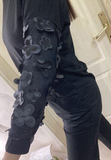 Korset sa - Srbija: Ženski pamučni komplet, tunika i pantalone sa 3D ukrasima