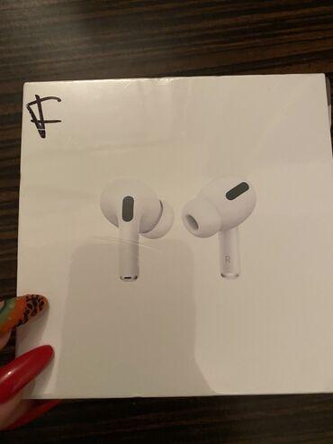 Apple Airpods Pro 400 AZN. Acilmayib qutusunda gorduyunuz qaydada sati
