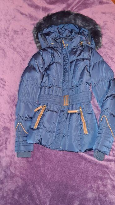 Tegovi - Srbija: Teget zimska jakna u odlicnom stanju skoro ne koriscena pretopla i