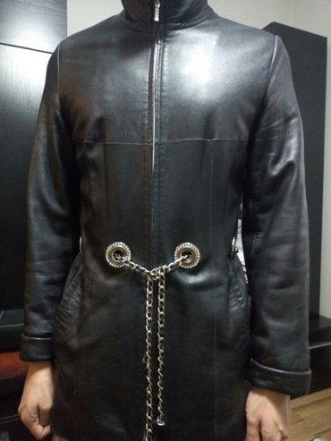 Кожаная куртка женская р. 46 в Бишкек