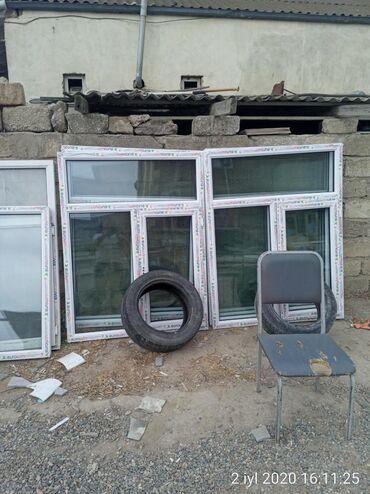 120×154=90manat 1 ededi teze plastik pencere Binə sovxoz Kafe 500 lə