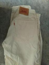 Bez pantalone broj - Srbija: Ocuvane somot pantalone u bez boji broj 32 original levis. Dogovor