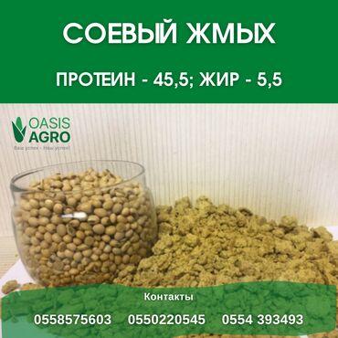рынок животных в Кыргызстан: Продается СОЕВЫЙ ЖМЫХ высшего качества! Производится механическим