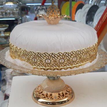 10000 - Azərbaycan: Tort üçün qab, Material:Bronza Altlıq:Mərmər