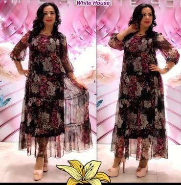 Платье. Красивое, изящное, легкое платье их шифона Размеры 42 44 46 48 в Кант