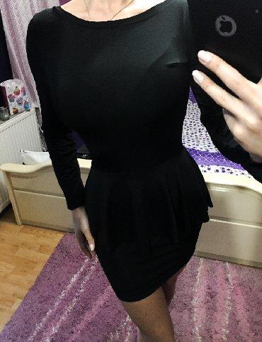 Haljine | Bor: Nova crna strukirana haljina uz telo