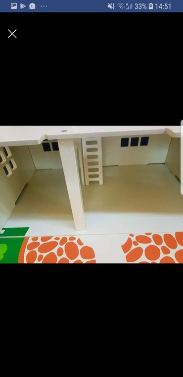 Bigjigs wooden carry along doll house, fully furnished! Very good σε Kallithea - εικόνες 3