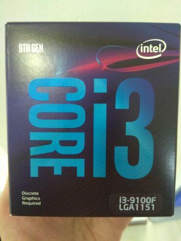 Kompüter üçün komplektləyicilər Bakıda: Intel core i3 9100F box fan colerson 1 eded qaldimehsul tezedir bagli