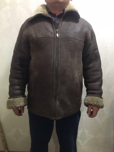 мужская дубленка размер 48-50, натуральная кожа, мех искусственный. со в Бишкек
