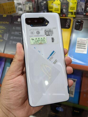 Электроника - Узген: Asus ROG Phone 5   256 ГБ   Белый Б/у   Гарантия, Сенсорный, Отпечаток пальца