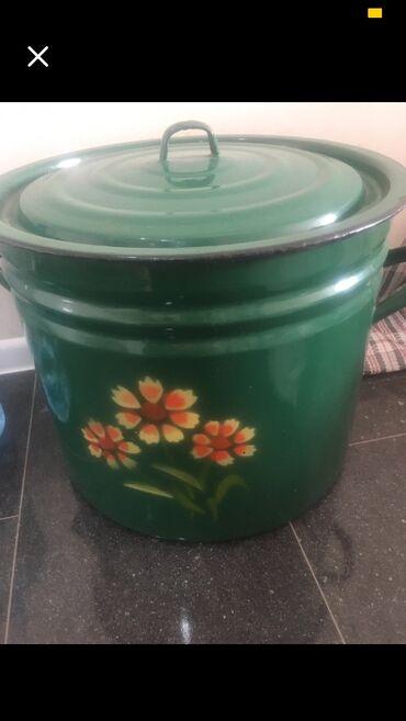 40 литровая эмалированная кастрюля б/у