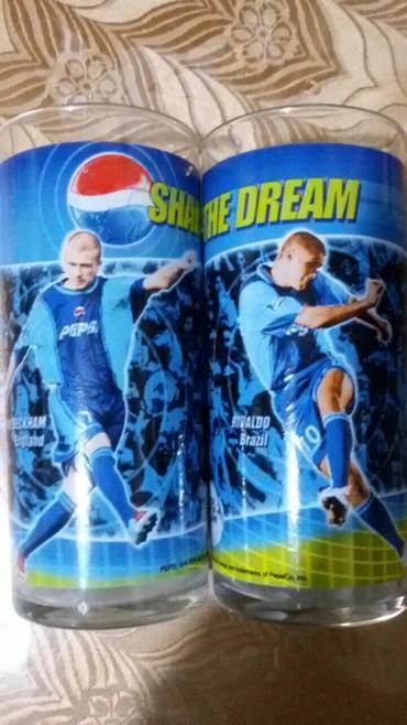 Стеклянные стаканы - Кыргызстан: Стаканы с футбольными кумирами. Для напитков, сока, пива. Новые! В