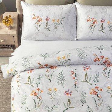 Декор для дома - Кемин: Комплект постельного белья Gisele Ranforce - светло-серыйНовый