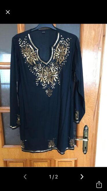 прокат платьев больших размеров бишкек в Кыргызстан: Кофта шикарная новая, вся отделана бисером и пайетками, 100% хлопок