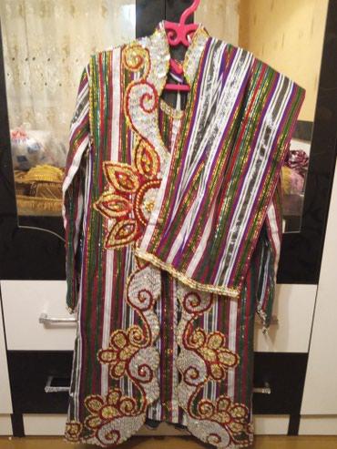 Наряд для невесты,платье+чапан с руковами+штаны+головной убор+обувь в Бишкек