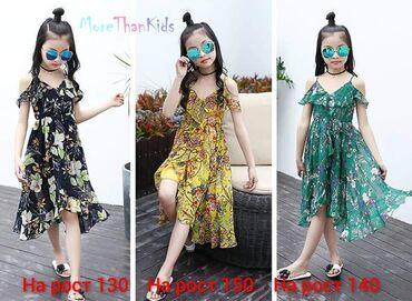 Летние платья для девочек, на возраст 7-11 лет. Рост 140, 150, 160