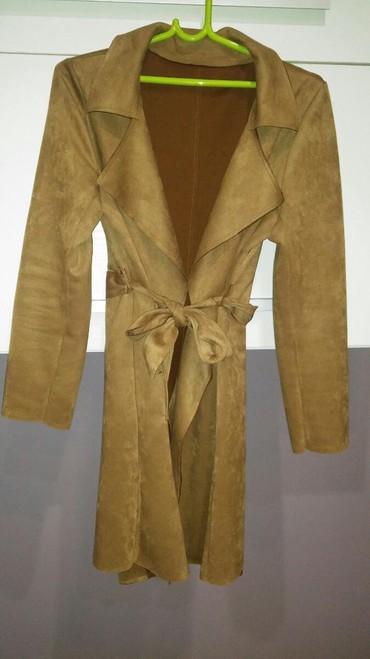 Velur kaput, jednom obucen, velicina uni